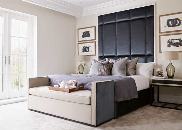 Contemporary Bedroom by Kristy Noble Photography