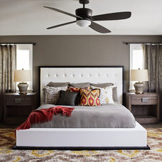 Transitional Bedroom by Kristina Wolf Design