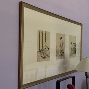 A tryptic of antique Japanese prints