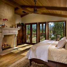 Mediterranean Bedroom by South Coast Architects, Inc.
