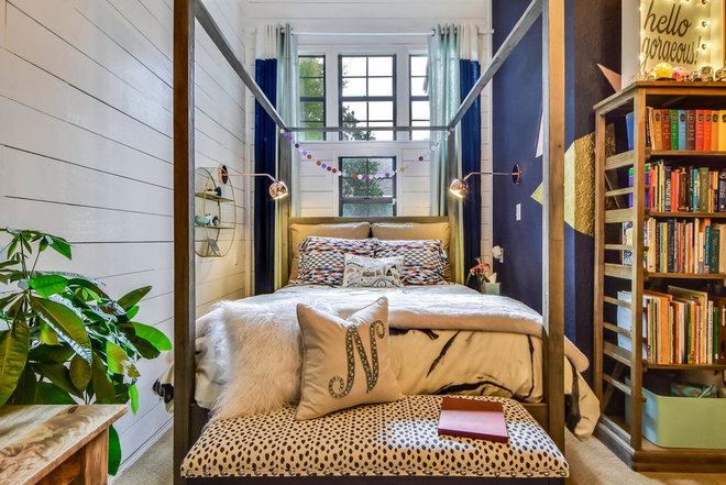 Eclectic Bedroom by Turnstyle Design