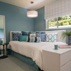 Transitional Bedroom by Linda Rosen Interiors