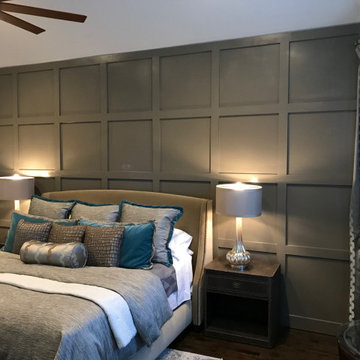 Accent Walls- Master Bedroom Board and Batten Wall