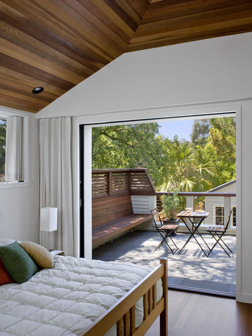inspiration for a contemporary balcony remodel in san francisco - Bedroom Balcony Designs