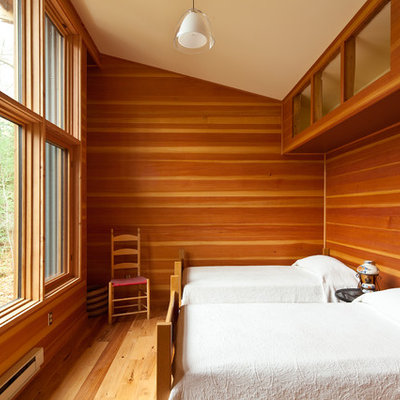 Example of a minimalist guest bedroom design in Minneapolis