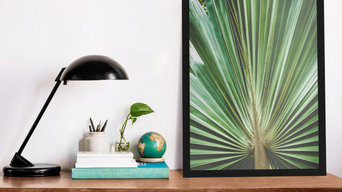 Aged and Colorized Wide Palm Leaves 2 Botanical Nature Photograph Wall Art Print