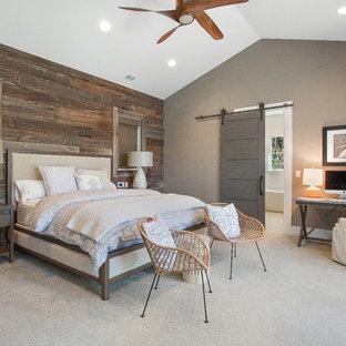 Alamo, CA. Farmhouse. Full Service Design Firm. Master Bedroom.