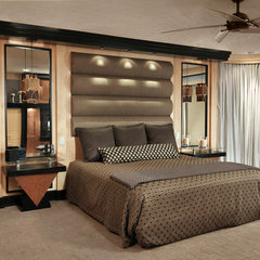 contemporary bedroom by Albrecht Wood Interiors