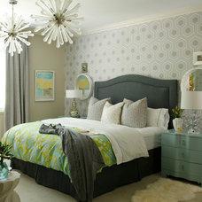 Transitional Bedroom by Heather Garrett Design