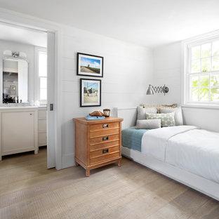 Bedroom - beach style bedroom idea in Other