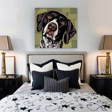 Contemporary Bedroom by AllPopArt.com - Custom Artwork