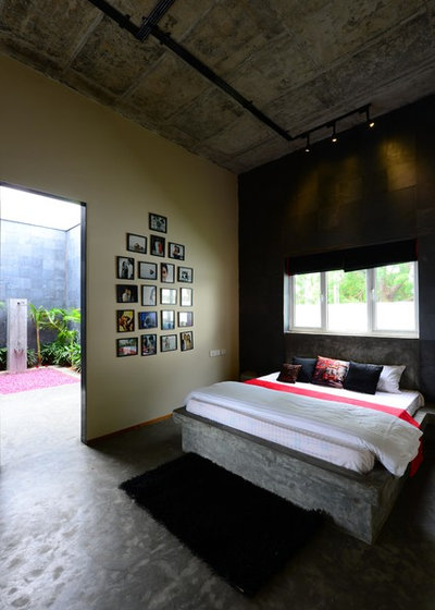 Contemporaneo Camera da Letto by Aamir and Hameeda Associates
