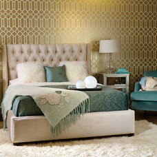eclectic bedroom by High Fashion Home