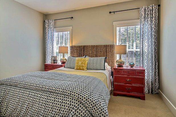 Transitional Bedroom by Lola Interiors