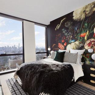 Bedroom - scandinavian bedroom idea in New York