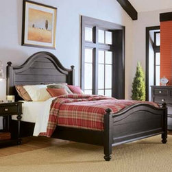 American Drew 919-316R Camden-Dark 6/6 Panel Bed - 919-316R 6/6 Panel Bed from Camden-Dark by American DrewW83 D82 H66Wt. 222 Cubes 29.1Consists Of:316 PANEL HEADBOARD 6/0-6/6W83 D4 H66Wt. 110 Cubes17.5BORED FOR FRAME*317 PANEL FOOTBOARD 6/0-6/6W83 D4 H30Wt. 56 Cubes 9.4*R42 WOODEN RAILS 5/0-6/6W82 D2 H8Wt. 33 Cubes 1.8*SK1 MATTRESS SUPPORT SYSTEMWt. 23 Cubes 0.4