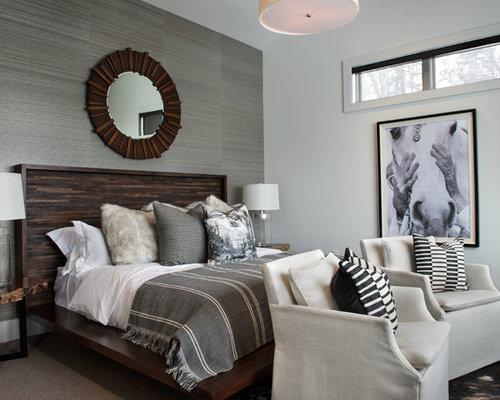 rustikale schlafzimmer mit grauer wandfarbe ideen. Black Bedroom Furniture Sets. Home Design Ideas