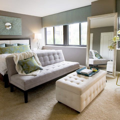 contemporary bedroom by Redman Design Studio