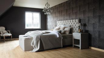 An impressive master bedroom