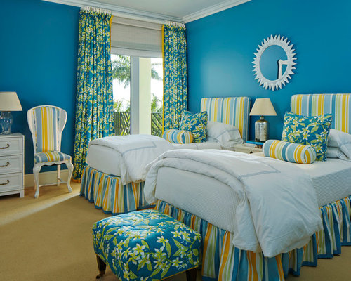 tropical bedroom design ideas pictures remodel decor with blue