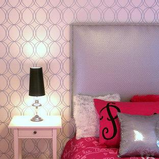 オタワのコンテンポラリースタイルのおしゃれな寝室 (白い壁)