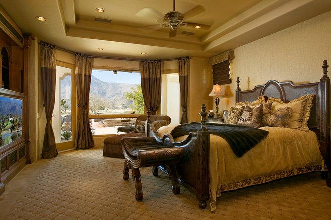 Mediterranean Bedroom by Pekarek Crandell Architects