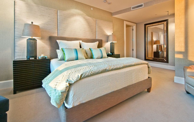 Contemporary Bedroom by Andrea Braund Home Staging & Design