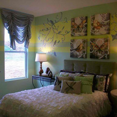 eclectic bedroom by Anita Roll Murals