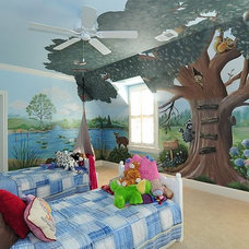 Contemporary Bedroom by Anita Roll Murals