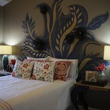 Contemporary Bedroom by Anita Roll Murals