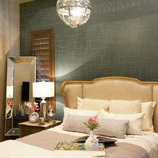 Transitional Bedroom by Lisa Escobar Design