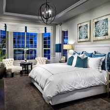 Transitional Bedroom by Possibilities for Design Inc.