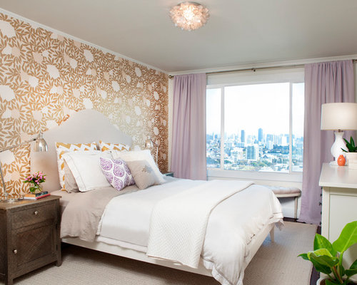 Transitional Bedroom Photo In San Francisco With Multicolored Walls