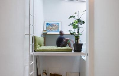 Houzz Испания: 21 метр в Мадриде — маленький узкий дом