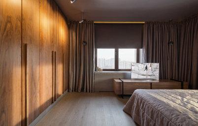 Houzz тур: Оттенки песка и меда в квартире с идеальным порядком