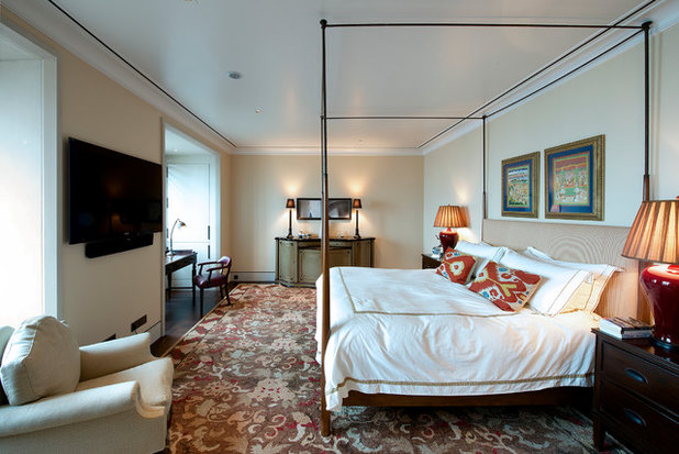 Transitional Bedroom by Architecture BRIO