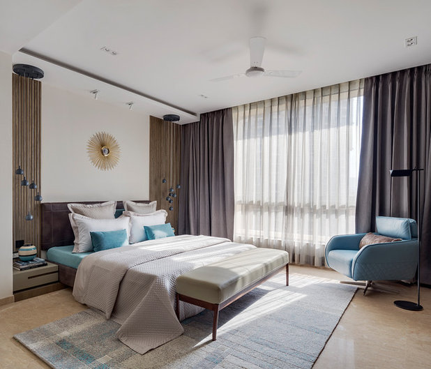 Contemporary Bedroom by Shamanth Patil Photography
