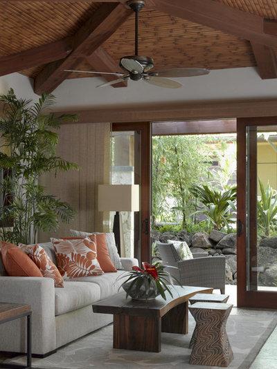 Tropical Bedroom by Applegate Tran Interiors