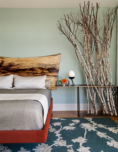 Rustic Bedroom by Christopher Stark Photography