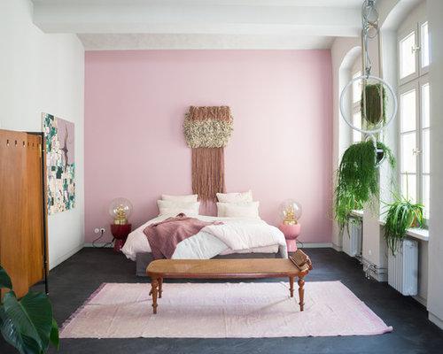 Pareti Rosa Camera Da Letto : Camera da letto con pareti rosa berlino foto e idee per arredare