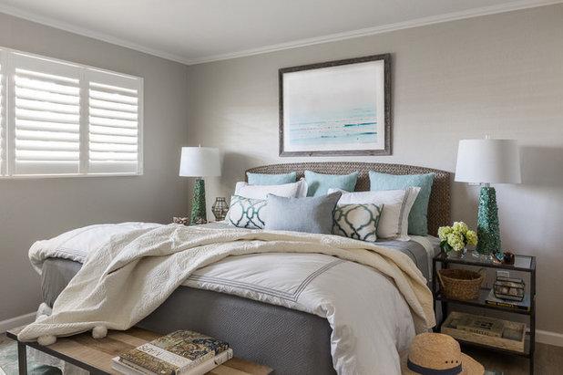 Beach Style Bedroom by Leslie Harris-Keane Interior Design