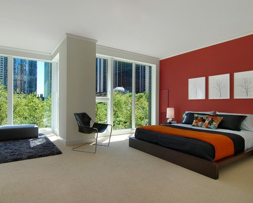 Deep Red Accent Wall Houzz - Deep red accent wall