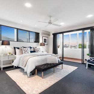 Design ideas for a contemporary bedroom in Brisbane.
