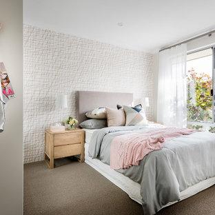 Contemporary bedroom in Perth.