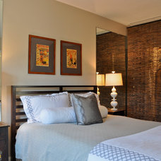 Transitional Bedroom by CM Glover