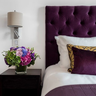Design ideas for a modern bedroom in Sussex.