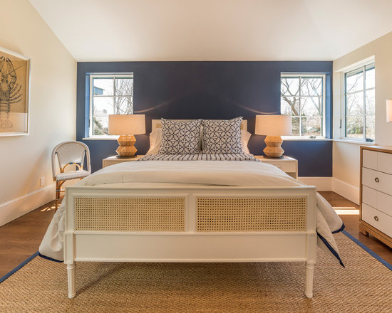 navy blue accent wall | houzz