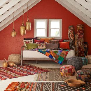 Idée de décoration pour une chambre méditerranéenne.