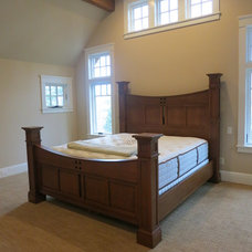 Craftsman Bedroom by George Clemens Architecture, INC