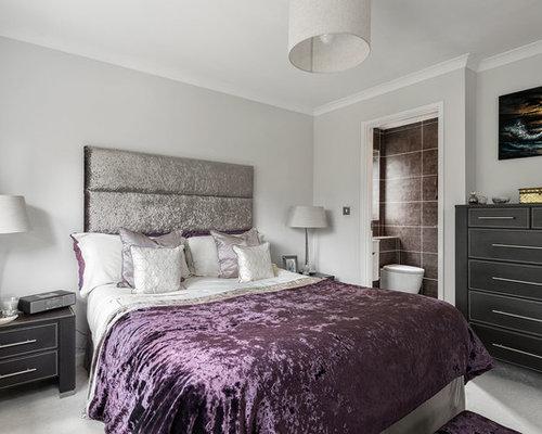 Medium Sized White Bedroom Design Ideas, Renovations & Photos